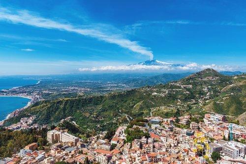 Mt. Etna overlooking Taormina