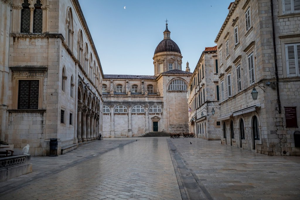 Dubrovnik's Rector's Palace and the Assumption Cathedral in Old Town