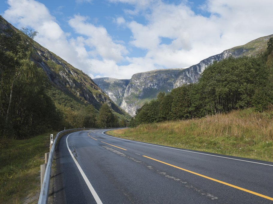 Drive through some of the most scenic roads in the western fjords