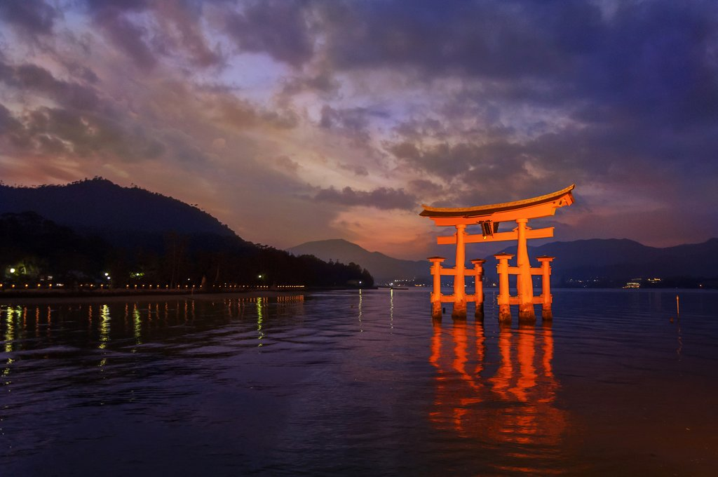 Great Torii at Itsukushima Shrine on Miyajima Island