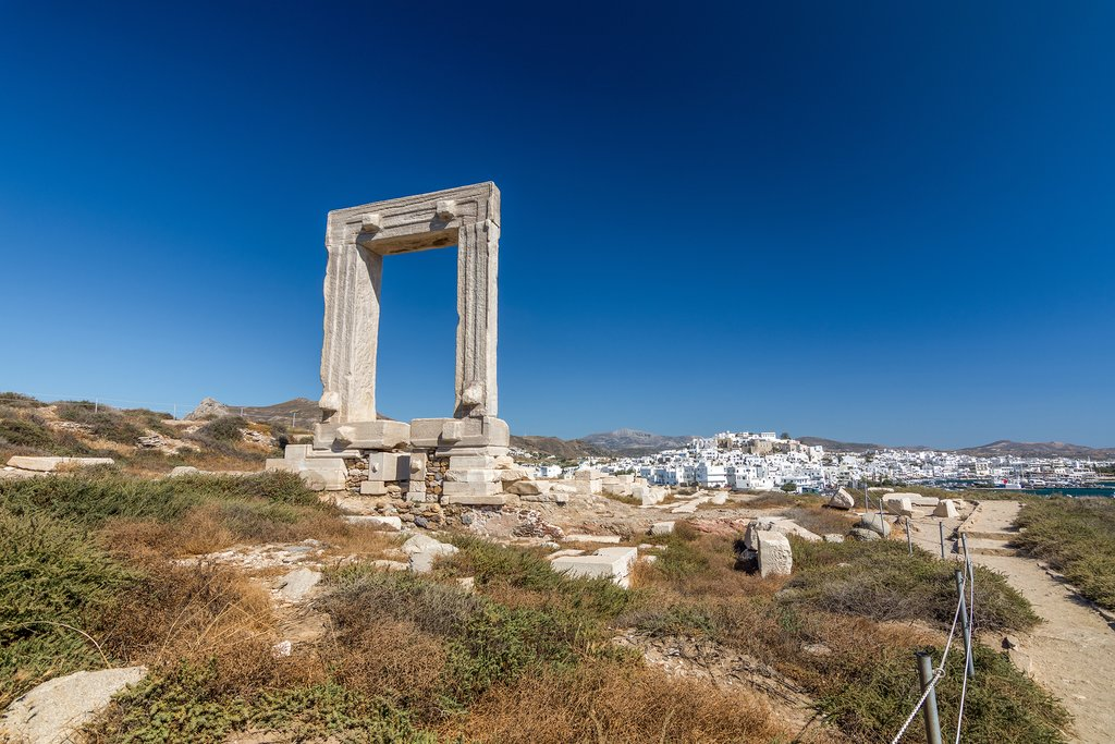 The famous Portara of Naxos