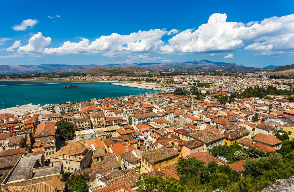 Aerial view over Nafplio