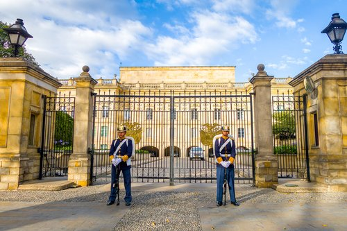 Guards outside the Presidential Palace