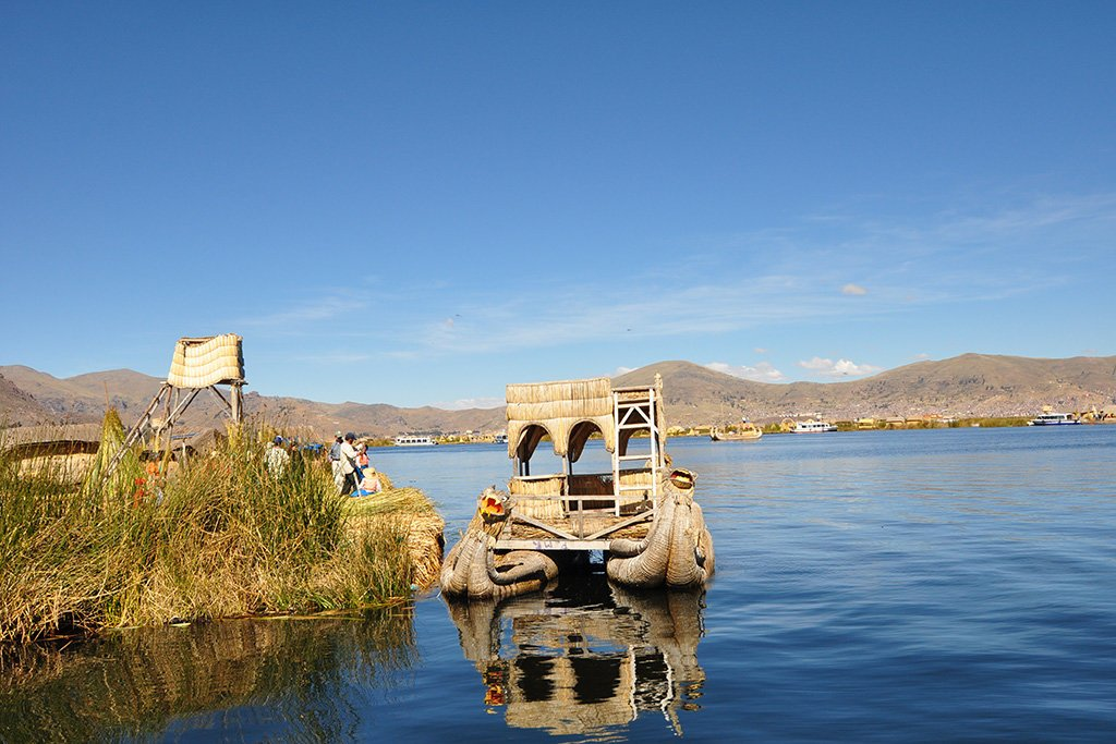 A view across Lake Titicaca