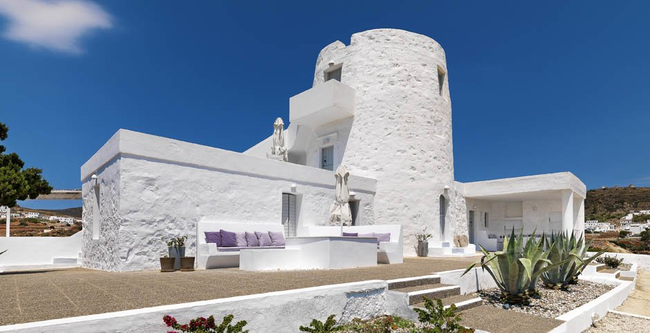 The Windmill Hotel on the island of Kimolos, Greece (Photo courtesy of the Windmill Hotel)