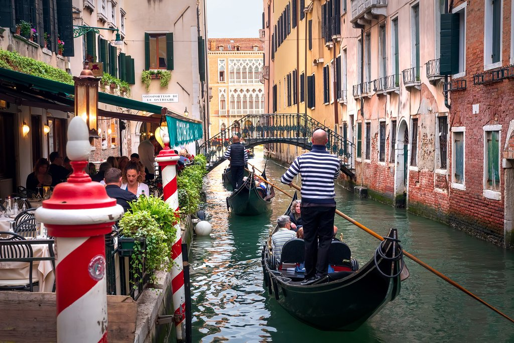 Gondola through the Venice canals