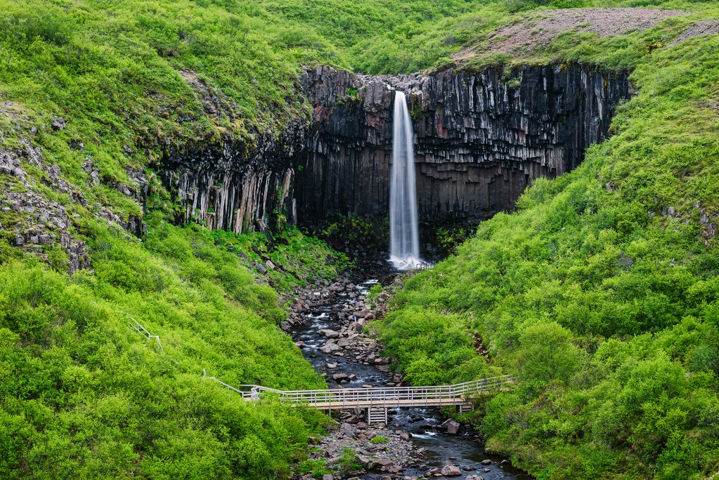 Walk behind Seljalandsfoss waterfall