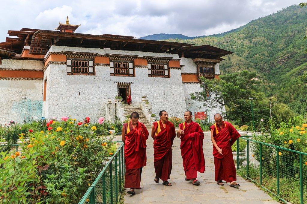 Monks in Bhutan