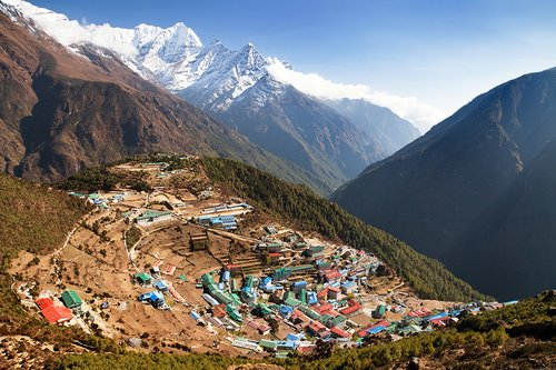 Namche Bazaar, the largest village in the Solu Khumbu