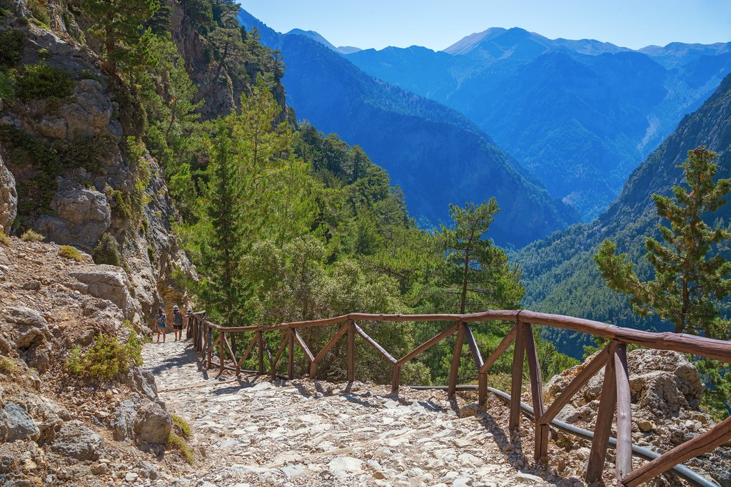 Hiking in the mountains of Samaria Gorge
