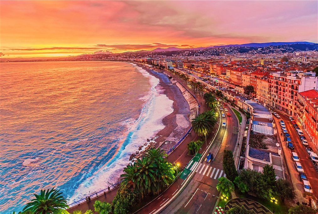Nice- French Riviera at sunset