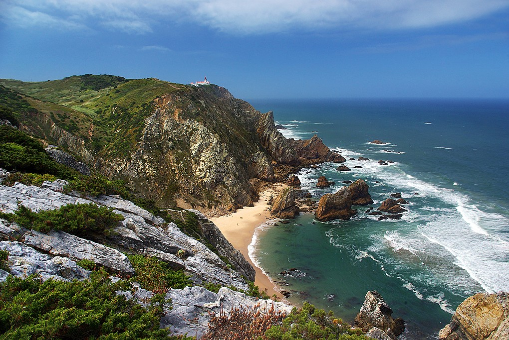 The cliffs of Cape Roca and Ursa Beach