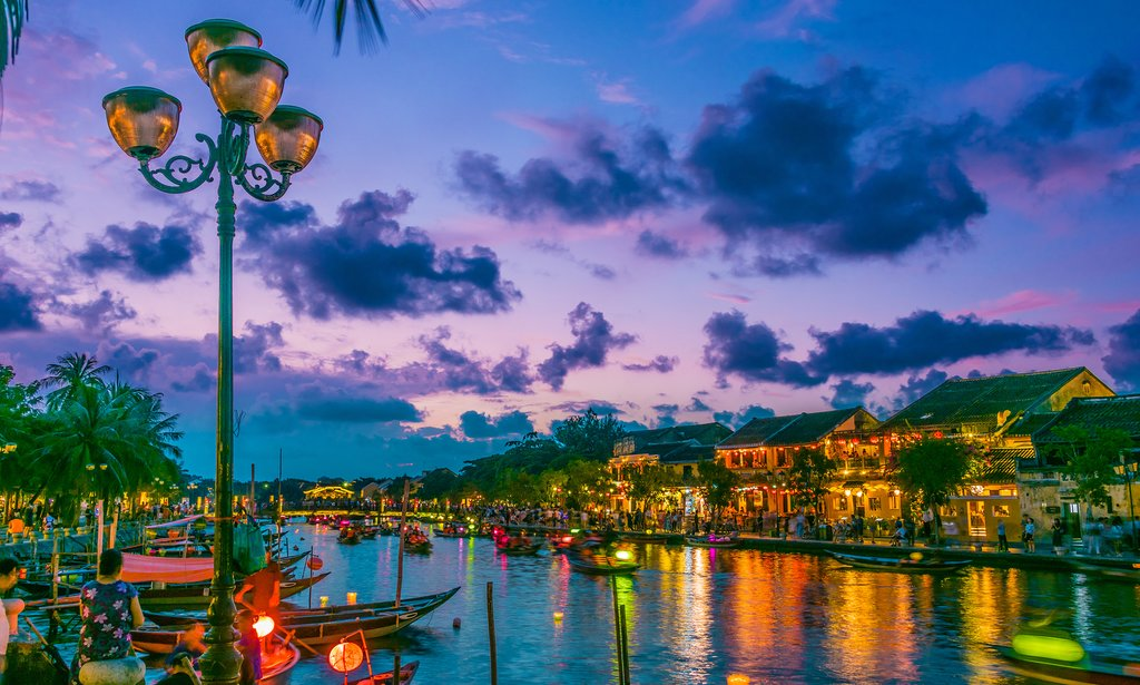 A scenic sunset in Vietnam