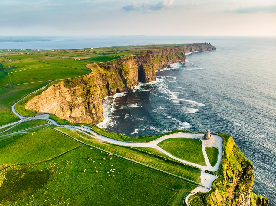The Cliffs of Moher on Ireland's wild western coast.