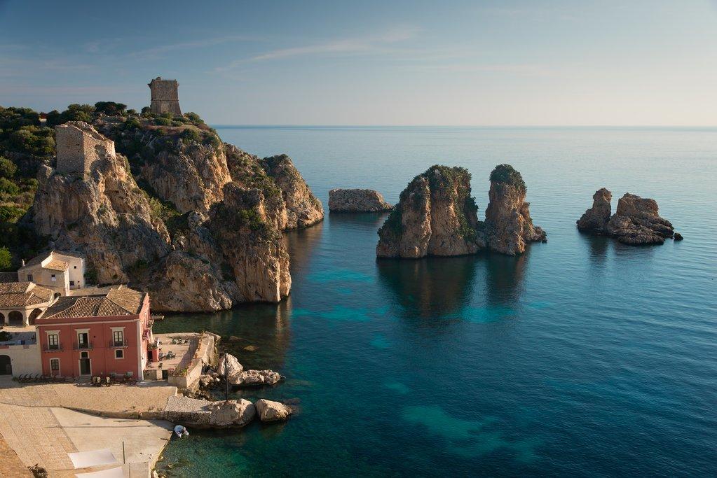 Blue waters of the Amalfi Coast