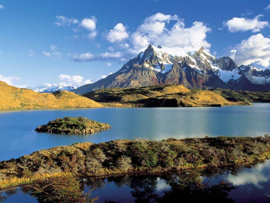 Panoramic view of Torres del Paine National Park