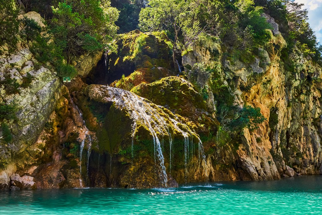 A small waterfall in Sainte-Croix Lake