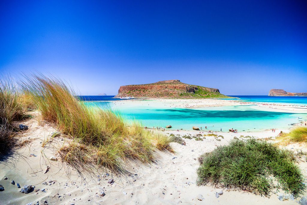 Balos Lagoon and Gramvousa Island on Crete