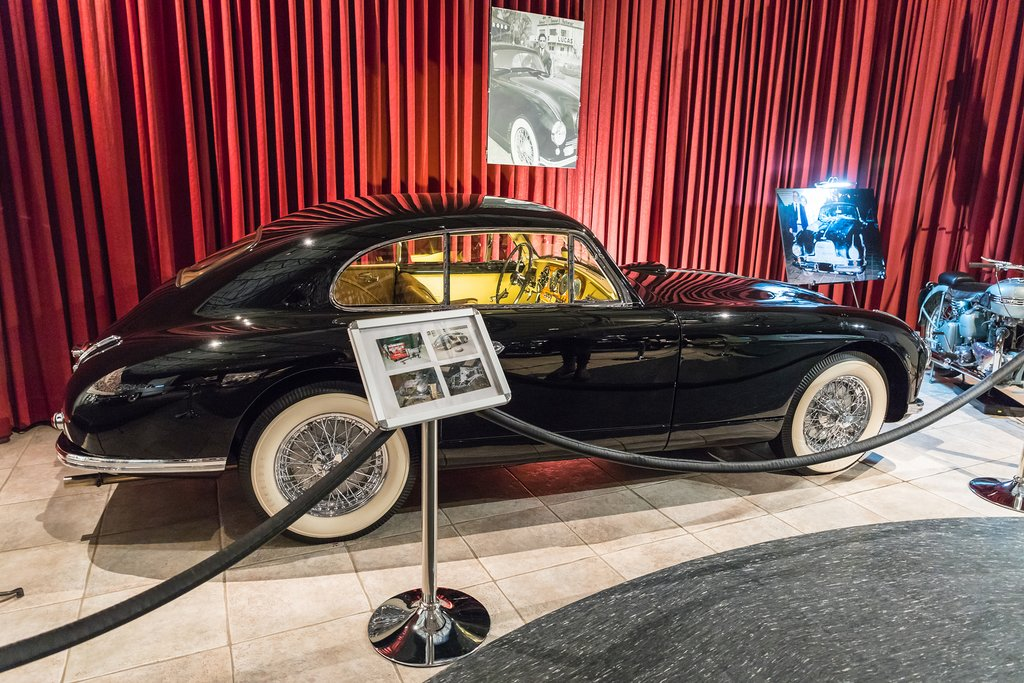 Aston Martin DB2 Vantage - 1952 at the exhibition in the King Abdullah II car museum in Amman, the capital of Jordan