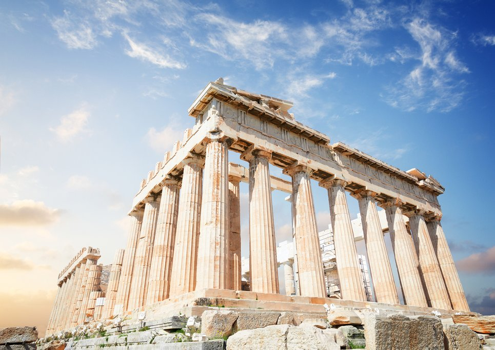Sunrise over the Parthenon
