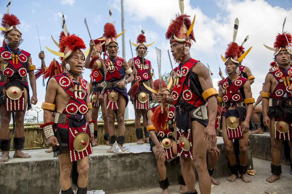 Performers in the Hornbill Festival in Nagaland
