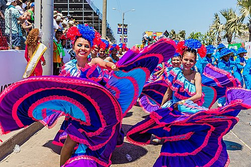 Dancers at Carnival in the town of Barranquilla