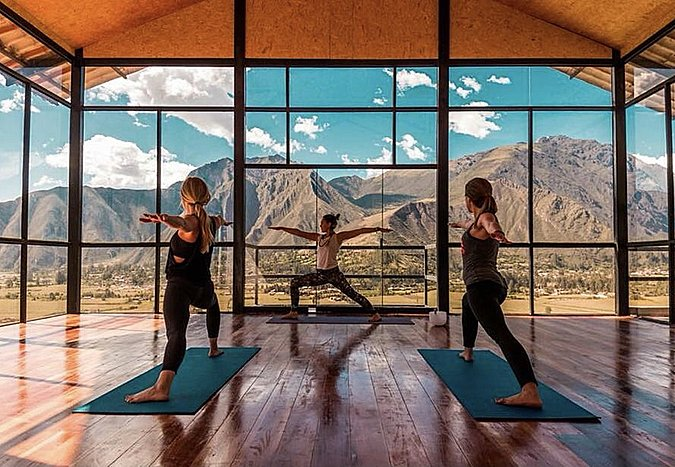 Restorative yoga in the Sacred Valley