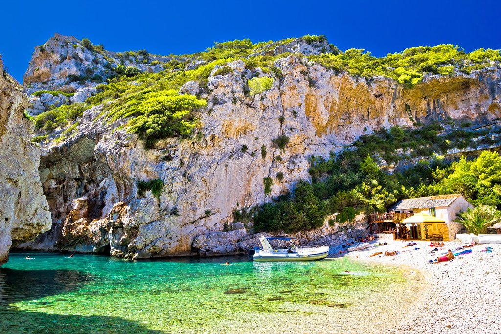 Stivna Beach on Vis Island