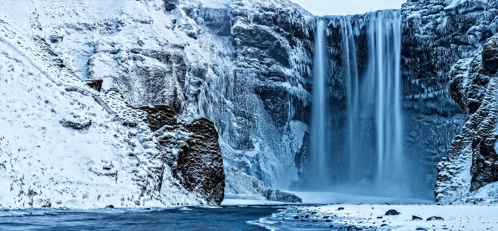 Skogafoss in the wintertime