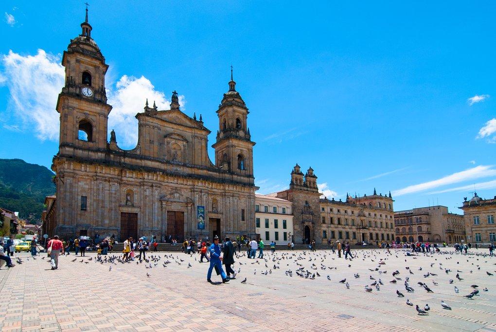 Plaza de Bolivár in Bogotá, Colombia