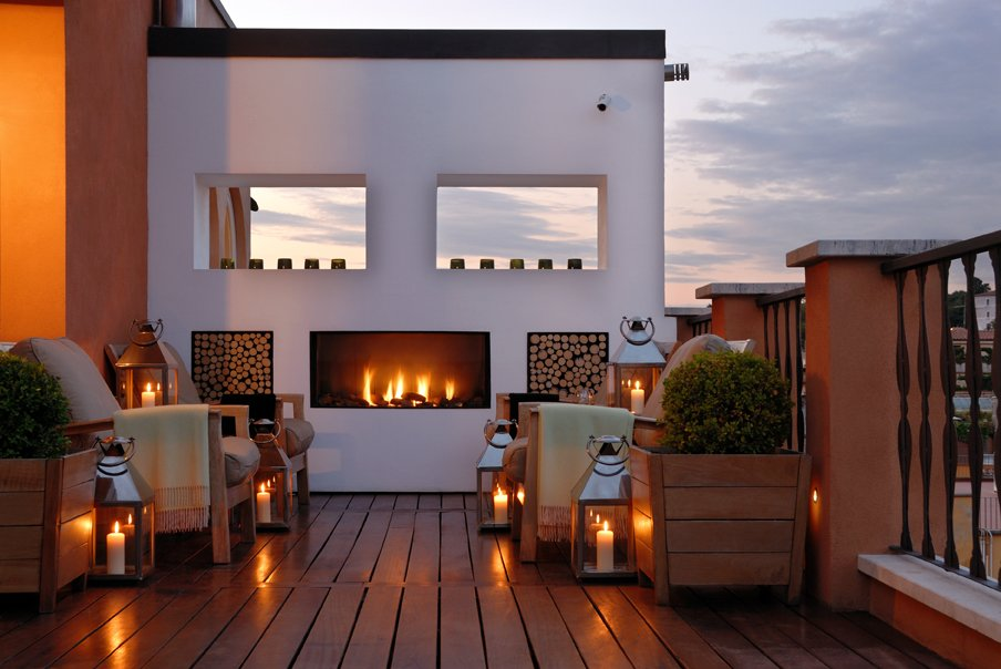 The roof terrace at Portrait Roma (Photo courtesy of Lungarno Collection)