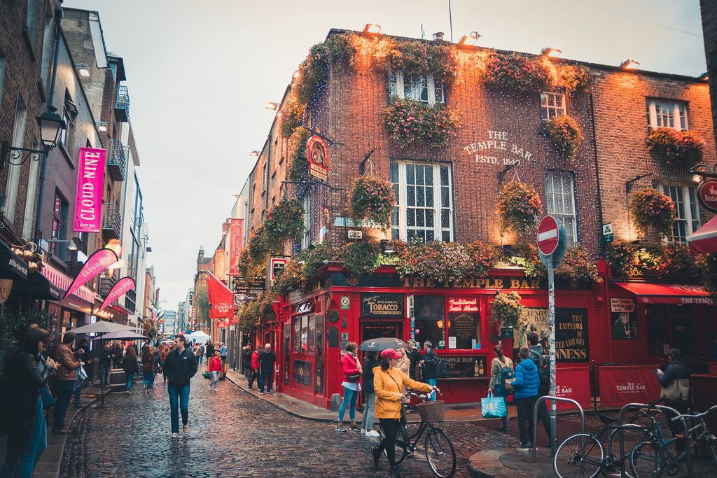 Outside Temple Bar, Dublin