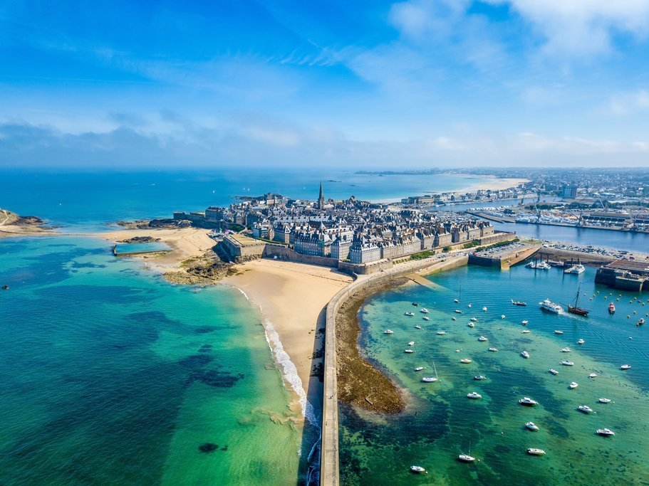 Aerial view of Saint-Malo
