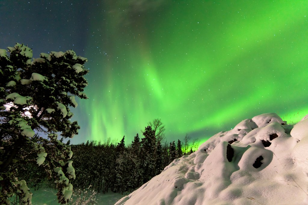 Canada's northwest territory is prime for viewing the Northern Lights
