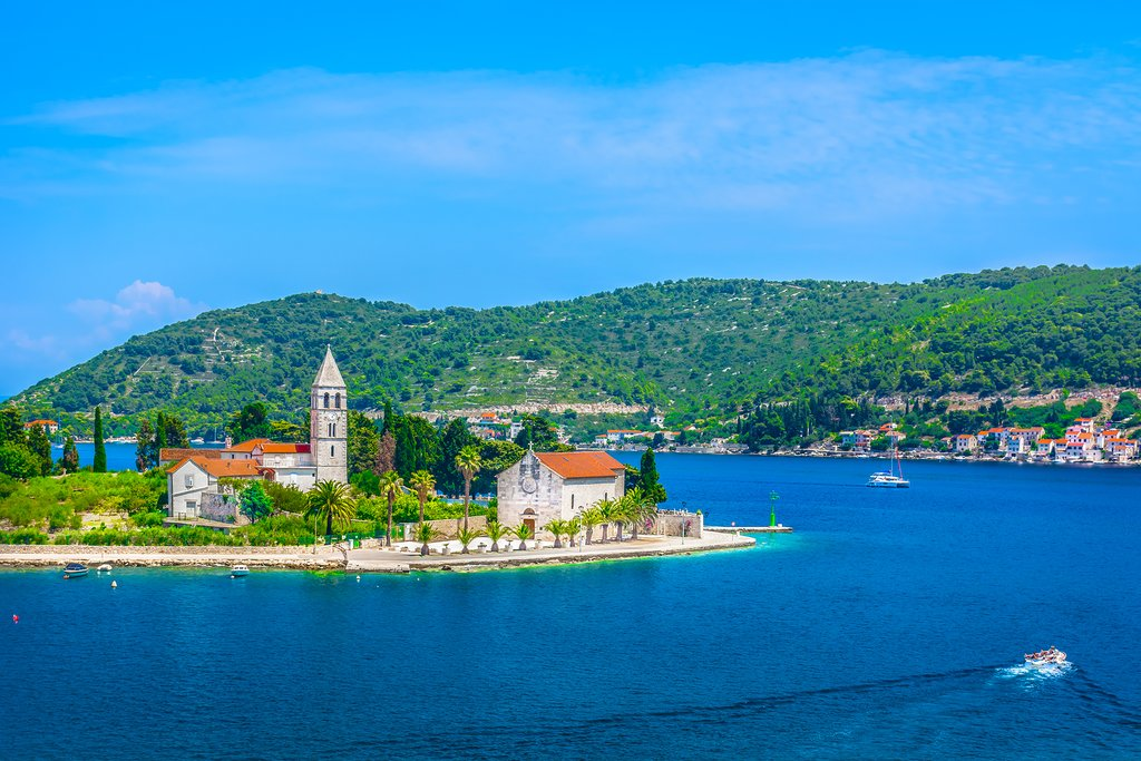 Beautiful Vis Island, a popular day-trip from the island of Hvar