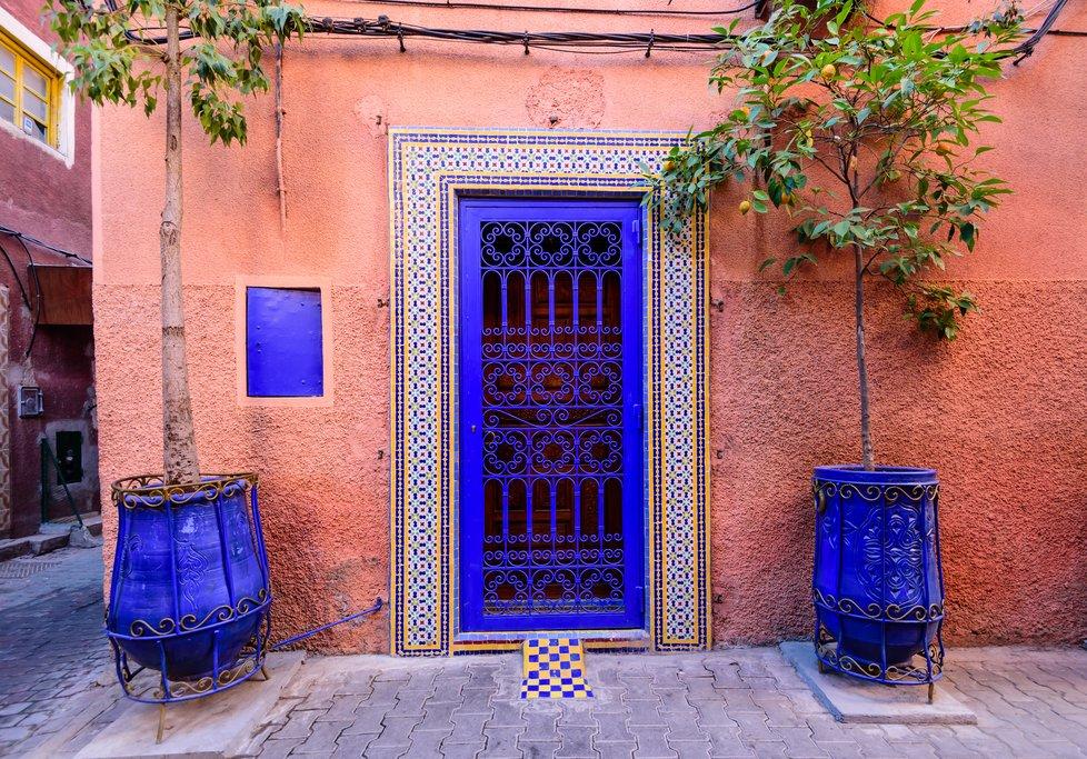 A traditional street in Marrakech's medina