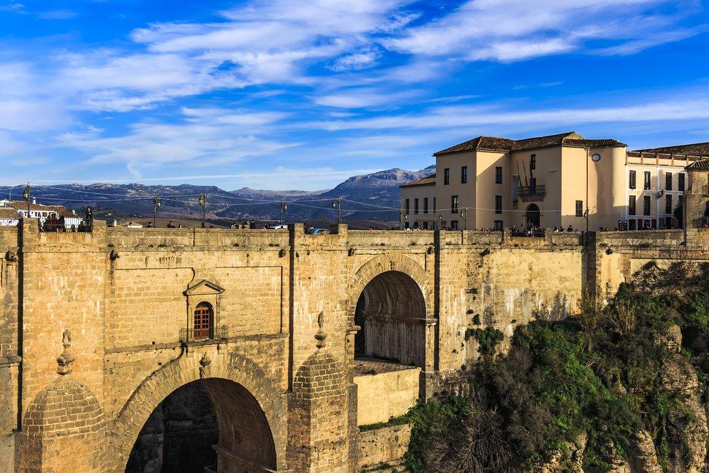 Admire encompassing vistas from atop the Puente Nuevo bridge in Ronda