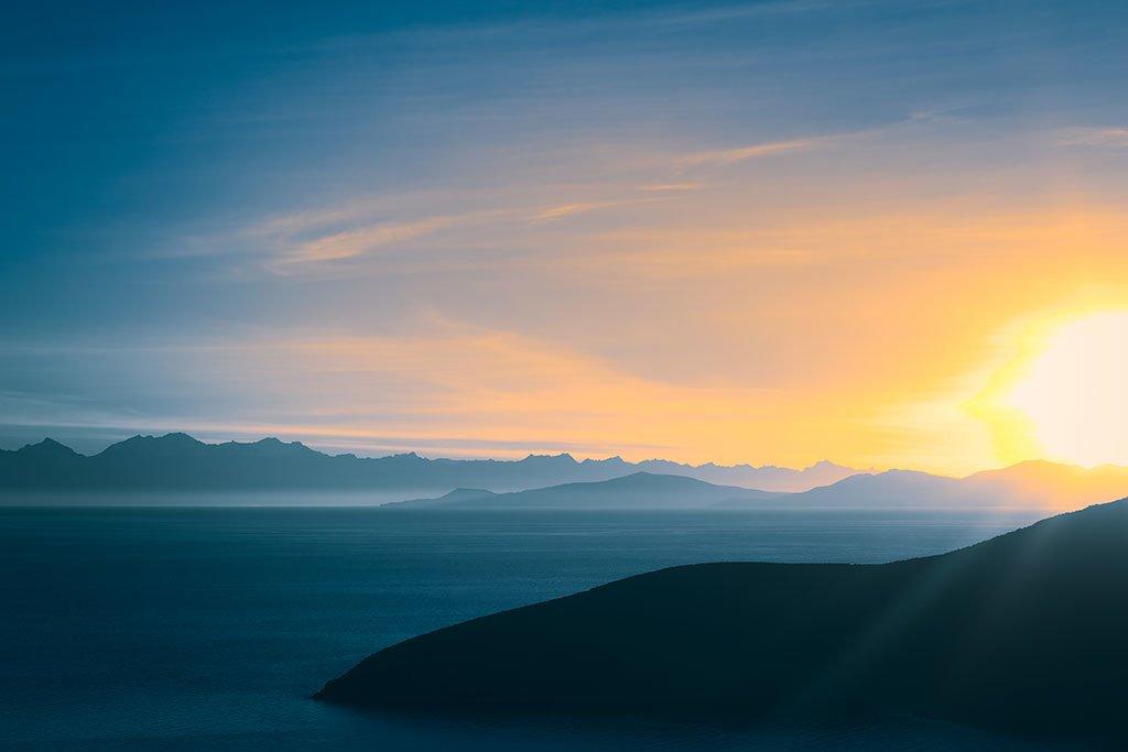 Sunrise over Lake Titicaca