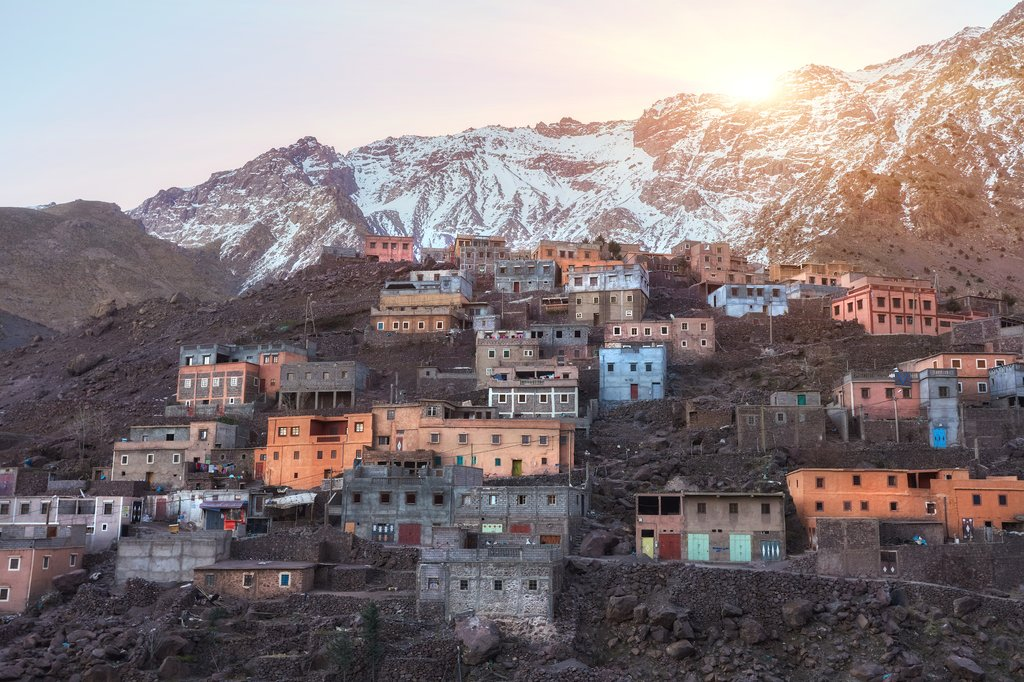 City of Imlil in the Atlas Mountains