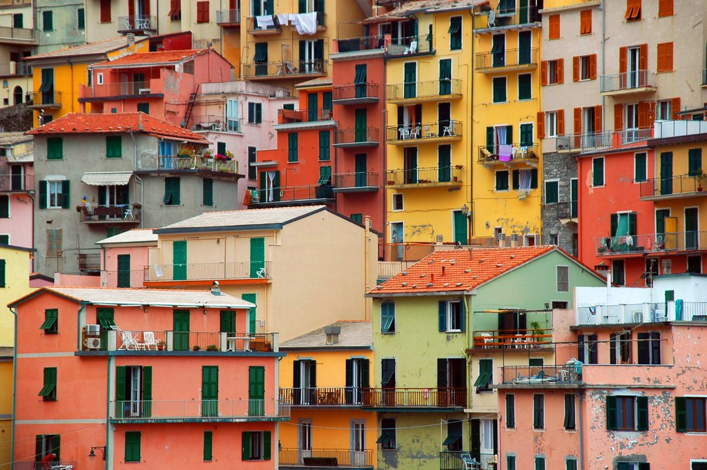 Colorful houses in the town of Manarola