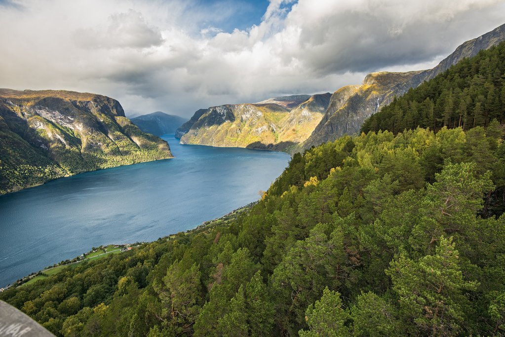 A branch of the Sognefjord in early autumn