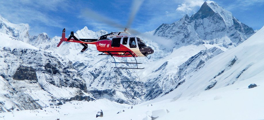 Helicopter to Everest Base Camp
