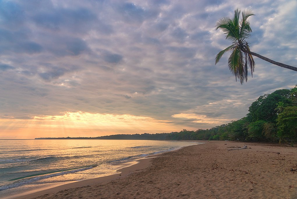 A beach near Puerto Viejo on Costa Rica's Caribbean side