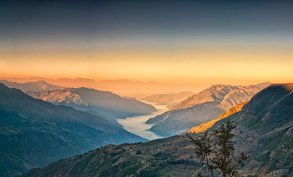 View from Kalinchowk Photeng towards the Kathmandu Valley