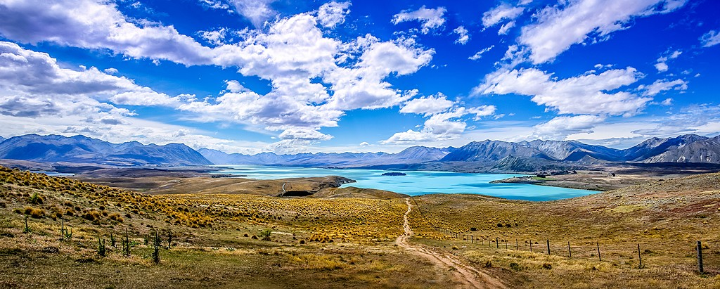 Stunning view of Lake Tekapo on New Zealand's South Island