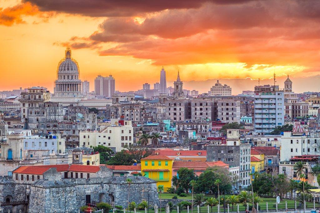 A sunset over Havana