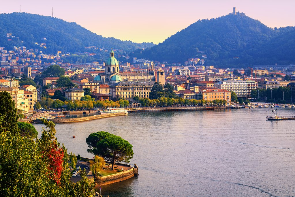 Panoramic View of Como, Italy