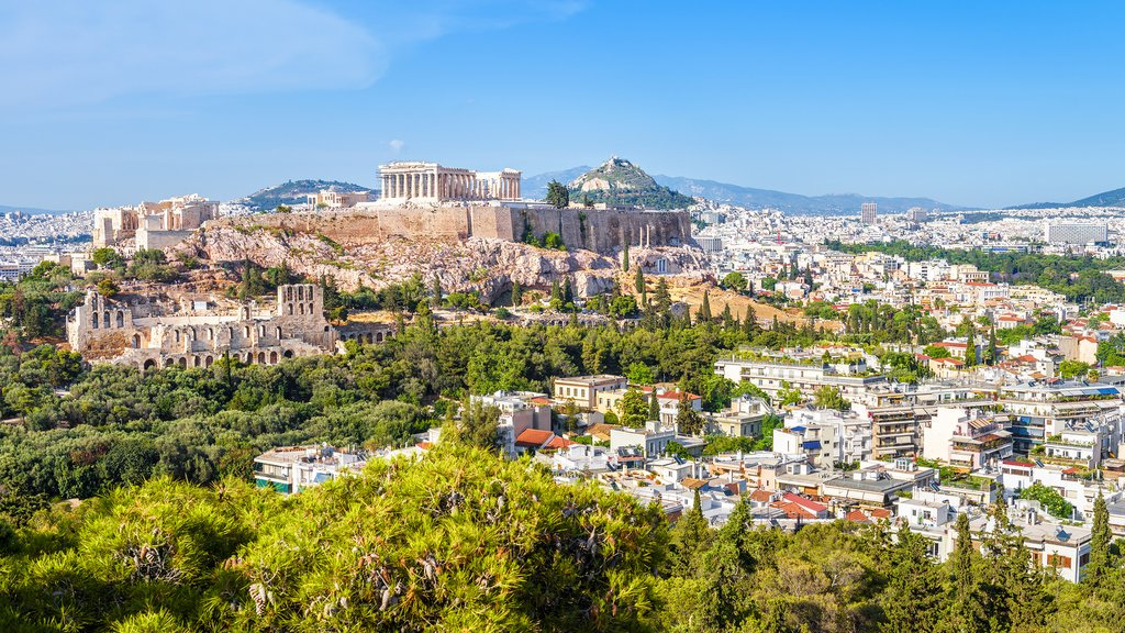 View of the Acropolis Hill in Athens