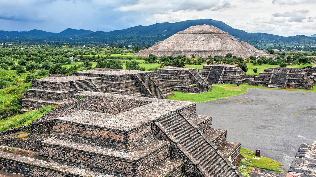 The pyramids at Teotihuacán, Mexico