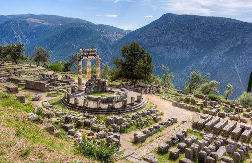 Sanctuary of Athena Pronaia in ancient Delphi